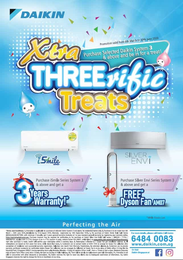 Daikin Promotion threerific