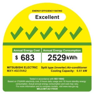 MXY-4G33VA energy label
