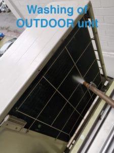washing outdoor unit